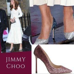 Jimmy Choo Romy in Pink Boudreaux Ombré Glitter